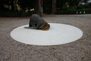 Der kanadische Pavillion(?) ist ein Loch im Boden
